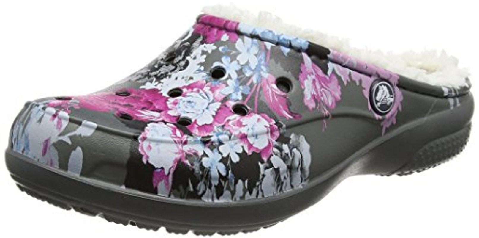 Crocs FREESAIL GRAPHIC LINED - Slippers - multicolor/slate grey HBXvTLPi