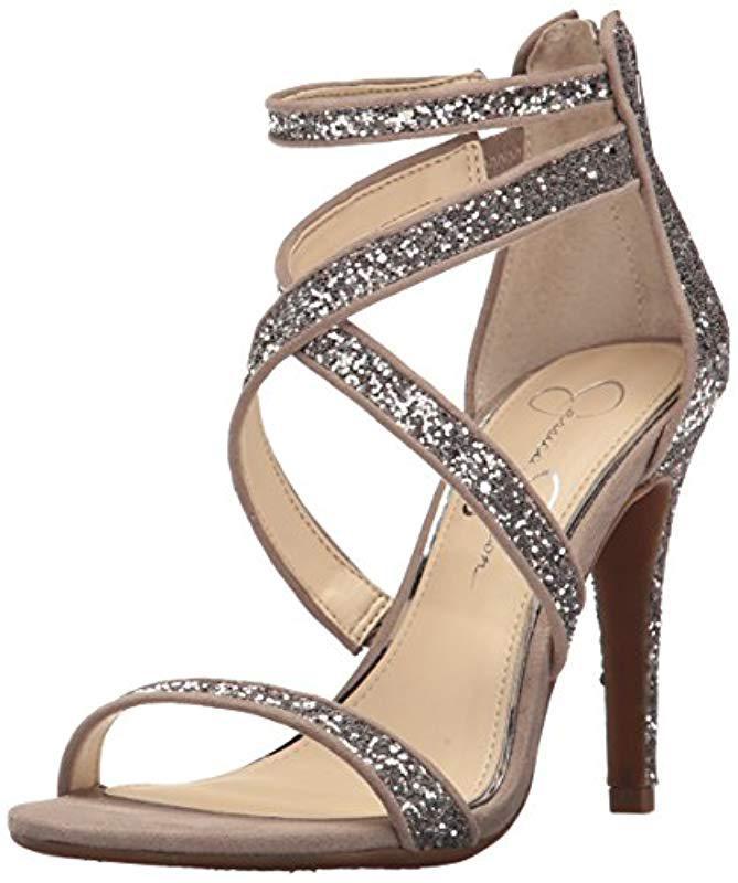 54b1f277d19 Lyst - Jessica Simpson Ellenie Heeled Sandal in Gray - Save 6%