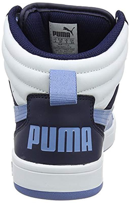 feb40a39203d8f PUMA - Blue Unisex Adults Rebound Street V2 Hi-top Trainers for Men - Lyst.  View fullscreen