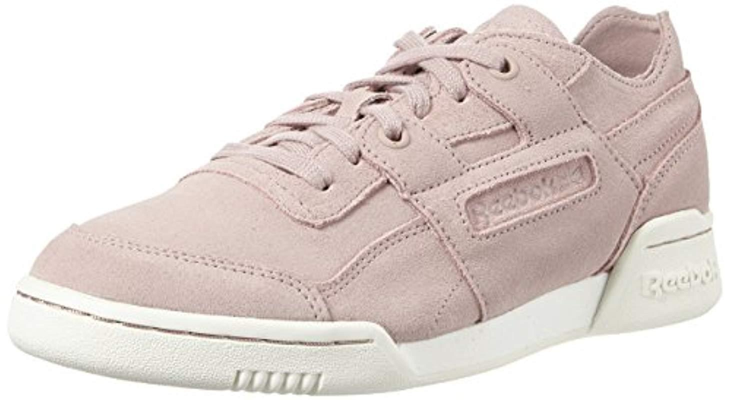 8aff0bf988e Reebok Workout Lo Plus Fbt Trainers in Pink - Lyst
