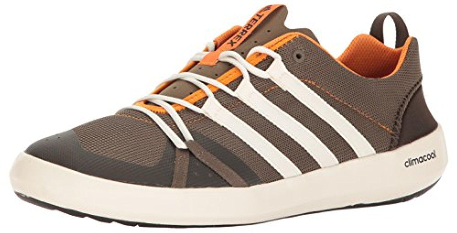 lyst adidas originals terrex climacool boot wasser schuh in braun