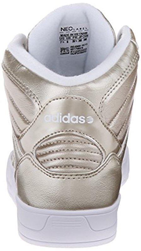 lyst adidas neo - raleigh metà w casual scarpe metallici