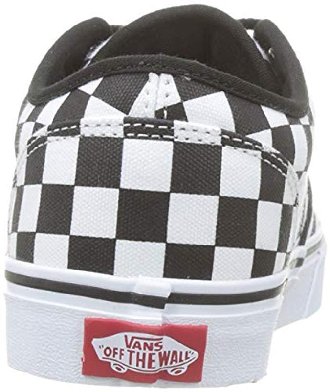 c410863f384 Vans  s Atwood Checkerboard Trainers in Black for Men - Lyst