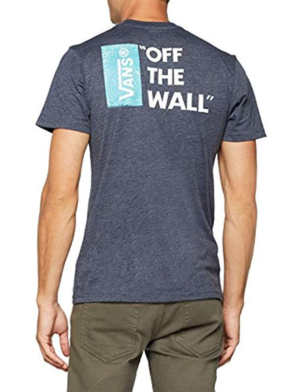 b99a43623e7859 Vans Off The Wall Iii T-shirt in Blue for Men - Lyst