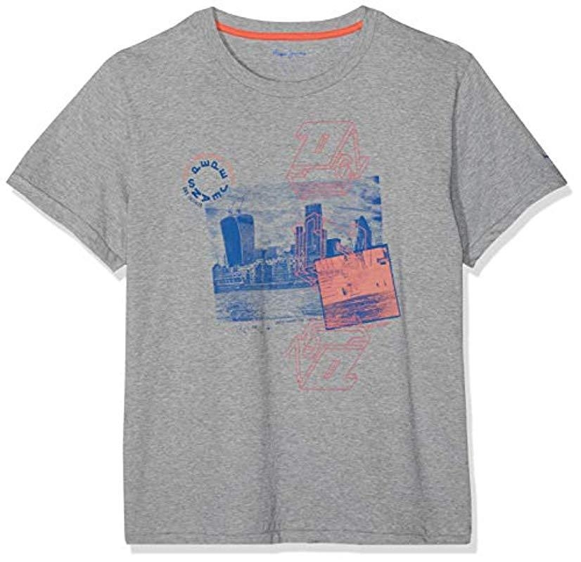 6848a76f2370d Pepe Jeans Jordan T-shirt in Gray for Men - Lyst