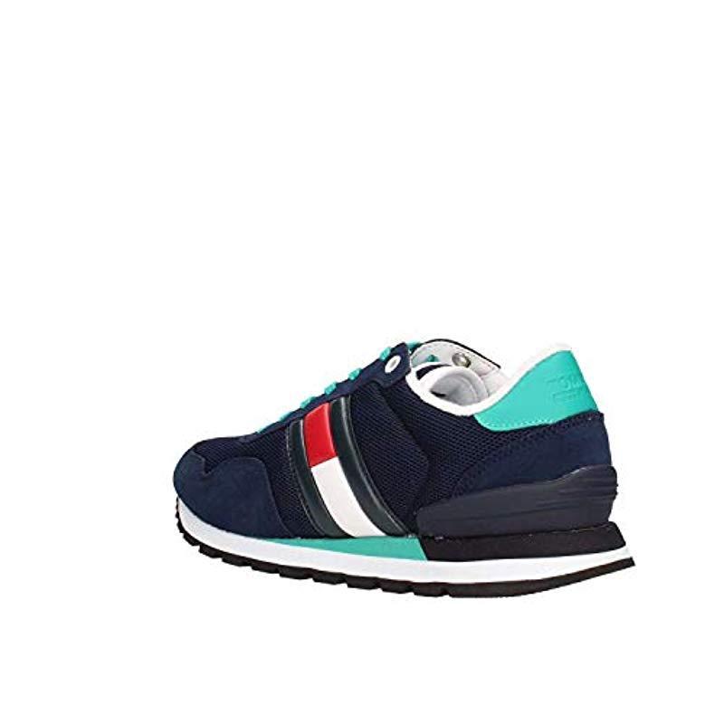 984686f39baf67 Tommy Hilfiger - Blue Hilfiger Denim Casual Sneaker