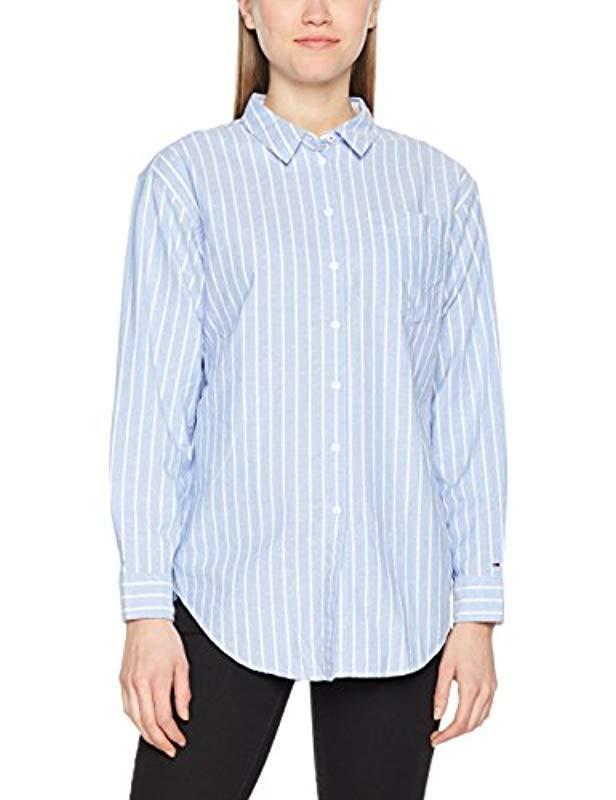 0660eae1 Tommy Hilfiger Friend Stripe Classic Shirt in Blue - Lyst