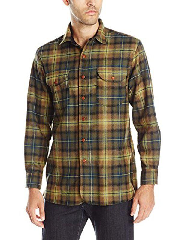 54030c93 Pendleton Long Sleeve Fitted Buckley Shirt in Green for Men - Lyst