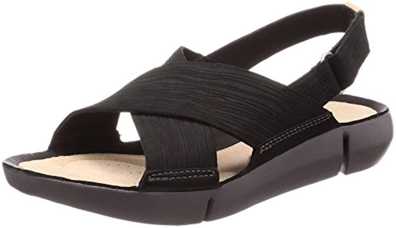 448d25c90af53 Clarks Tri Chloe Sling Back Sandals in Black - Lyst