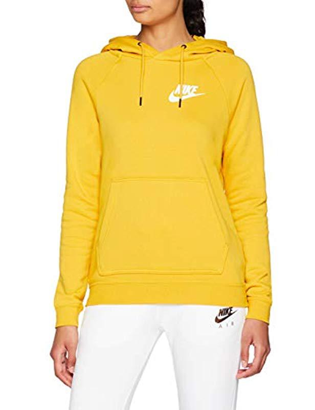 73a296707f12 Nike W Nsw Rally Hoodie Jumper in Yellow - Lyst