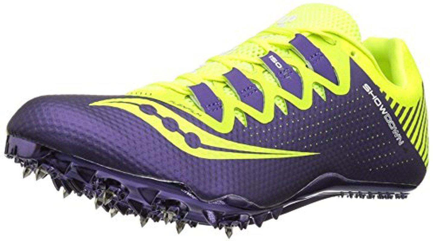 Saucony. Women's Purple Showdown 4 Track Shoe