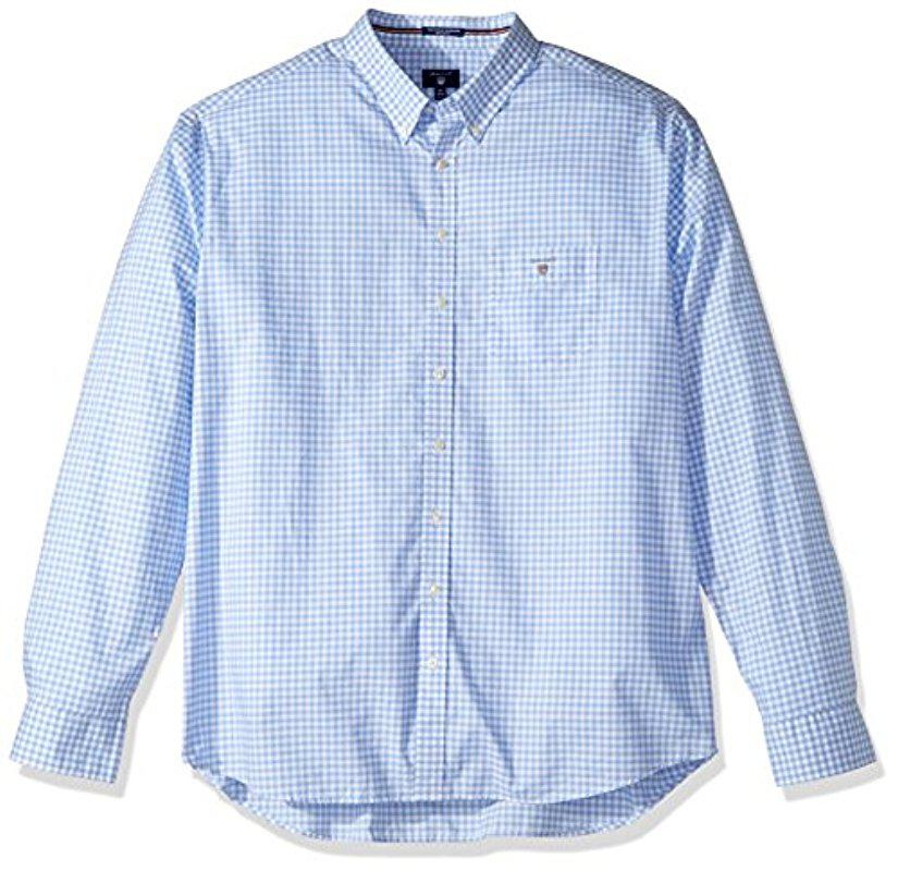 Regular Fit Printed Dot Broadcloth Shirt - Hamptons Blue GANT