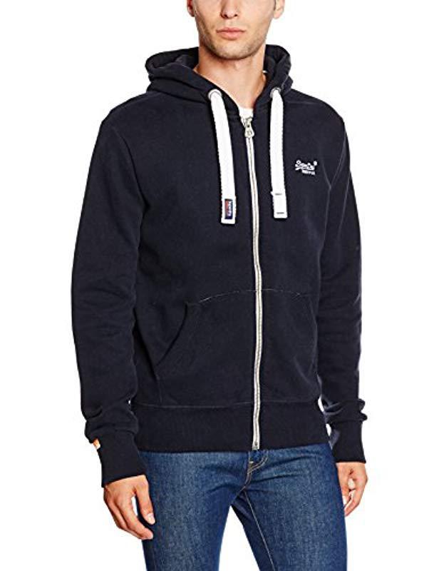 Superdry Orange Label Ziphood Sweatshirt in Blue for Men - Save ... a0f81c1151fa
