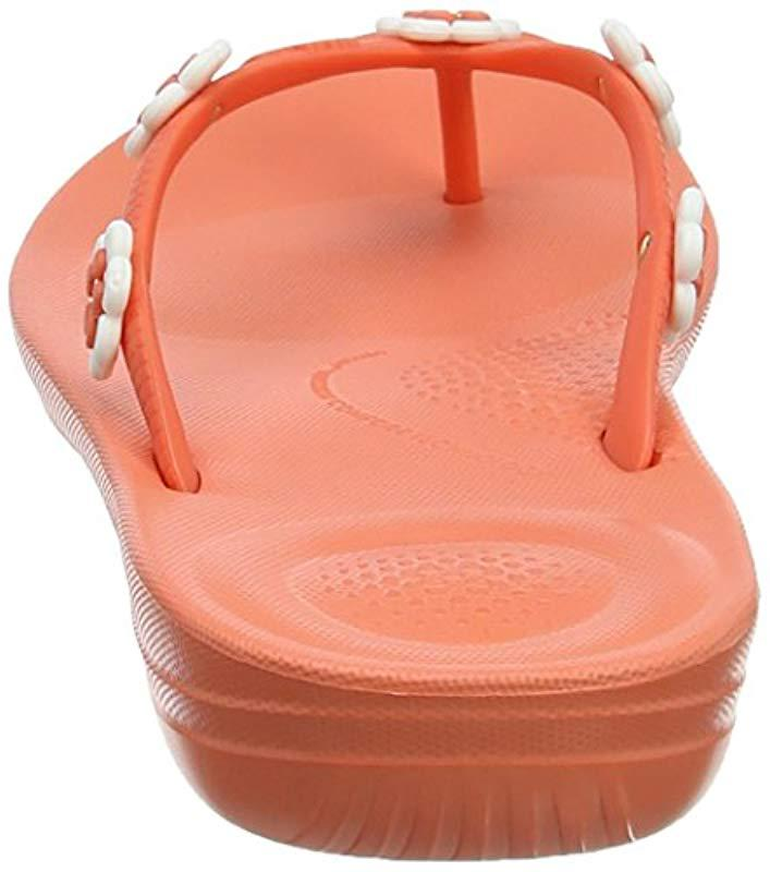 053aabc3b Fitflop - Orange   s Iqushion Ergonomic Flip Flop Flower-stud - Lyst. View  fullscreen