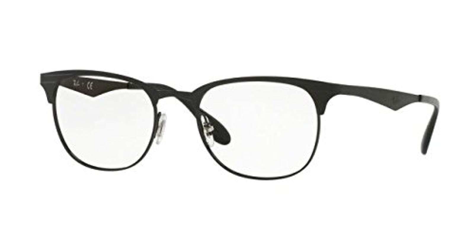 b3118175e364f Lyst - Ray-Ban 0rx6346 No Polarization Square Prescription Eyewear ...