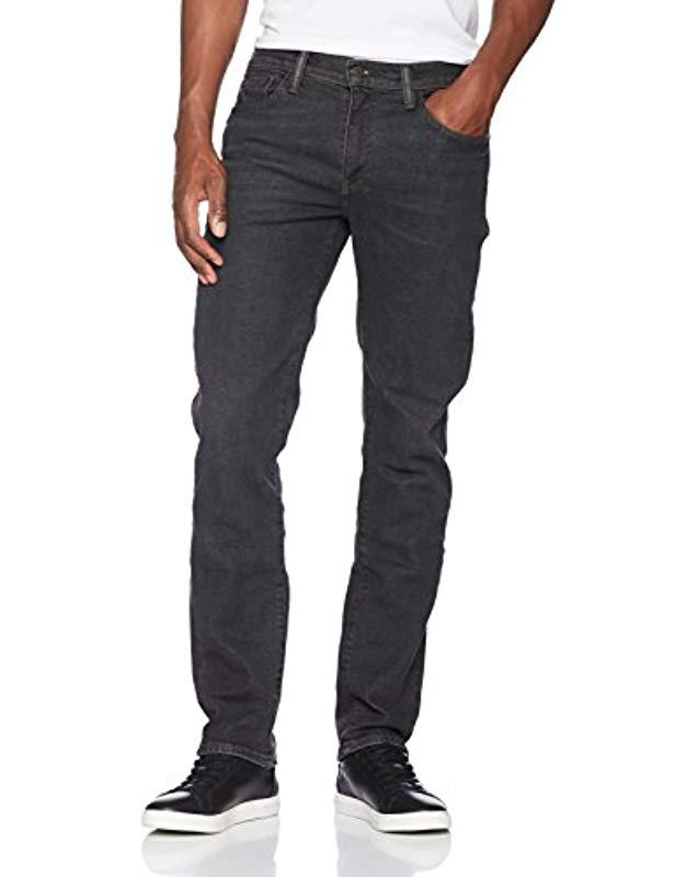 cad65a87 Levi's - Black 502 Regular Tapered Fit Jeans for Men - Lyst. View fullscreen