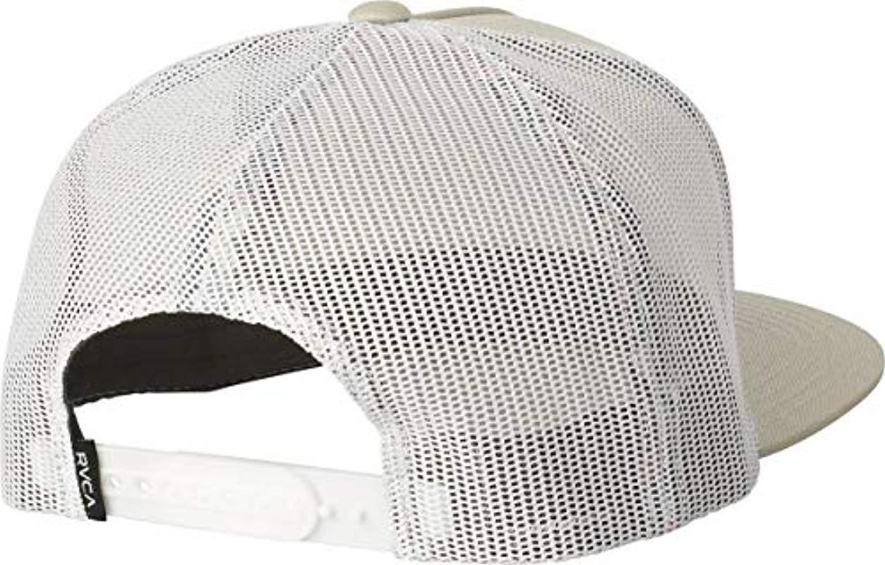 RVCA - Natural Va All The Way Mesh Back Trucker Hat for Men - Lyst. View  fullscreen bd66089fe062