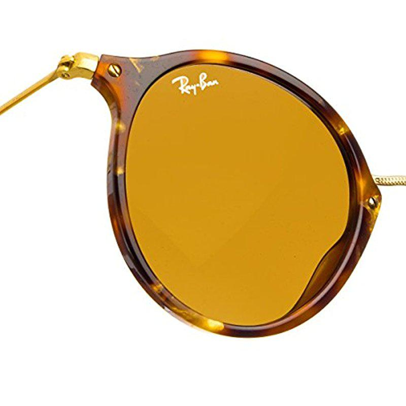 cfe1723d74 Lyst - Ray-Ban Round Fleck Rb2447 Non-polarized Sunglasses