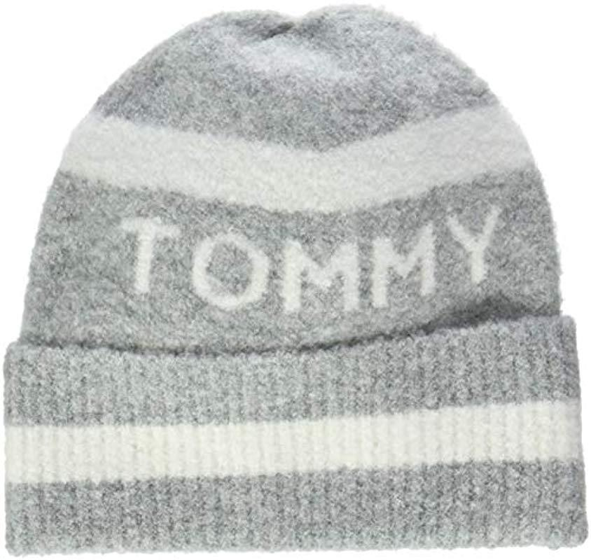 cd523bfe8f3 Tommy Hilfiger Soft Stripes Beanie in Gray - Lyst