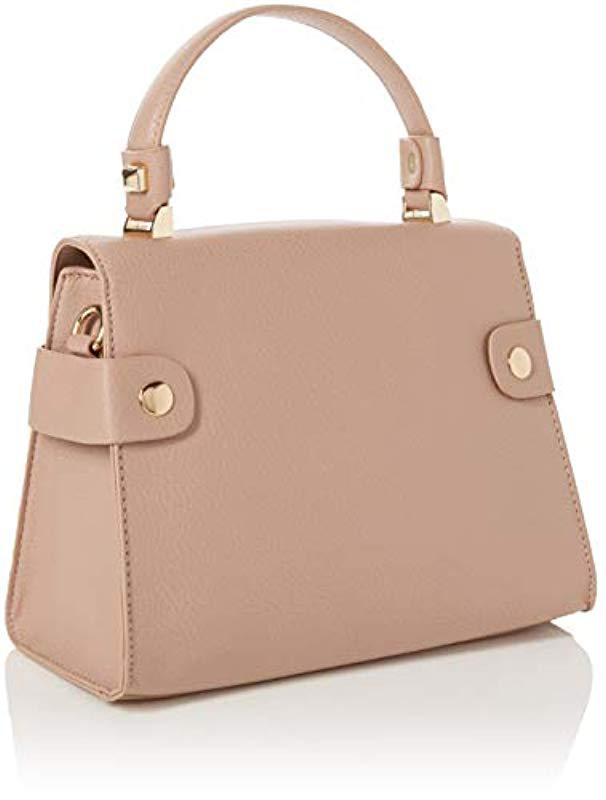 8f3cac44cd7db Dorothy Perkins Twist Lock Canvas And Beach Tote Bag in Pink - Lyst
