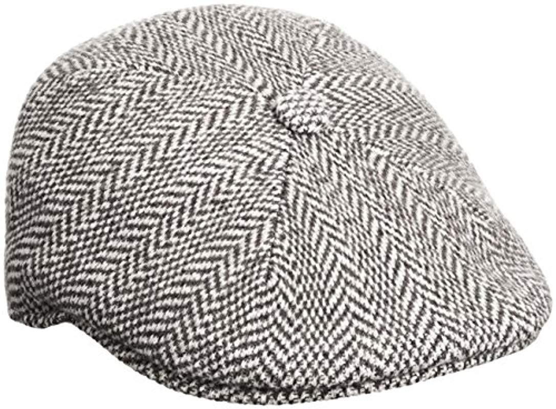 Lyst - Kangol Herringbone 507 Cap in Black for Men - Save ... 443e4bc98784