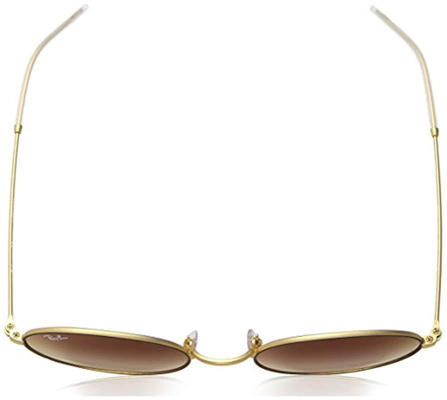 243f68a5b Ray-Ban 0rb3594 Non-polarized Iridium Oval Sunglasses Rubber Gold On ...