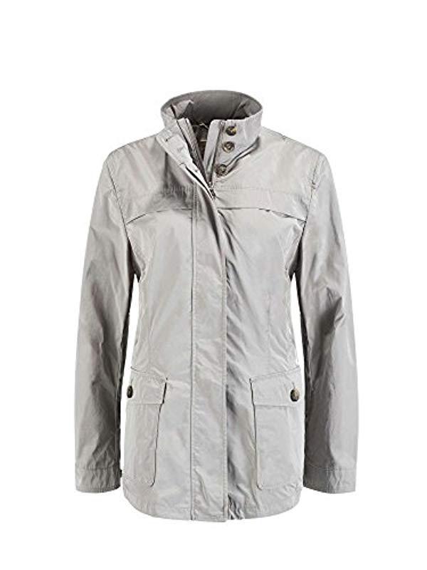 b77c315dbfd Geox Woman Jacket in Gray - Lyst