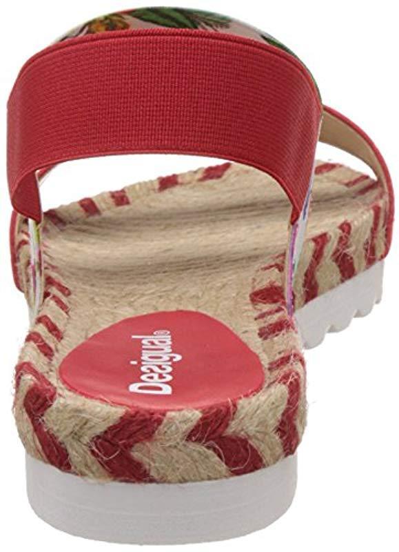 456df6b5e345 Desigual - Red Formentera 6 Heels Sandals - Lyst. View fullscreen