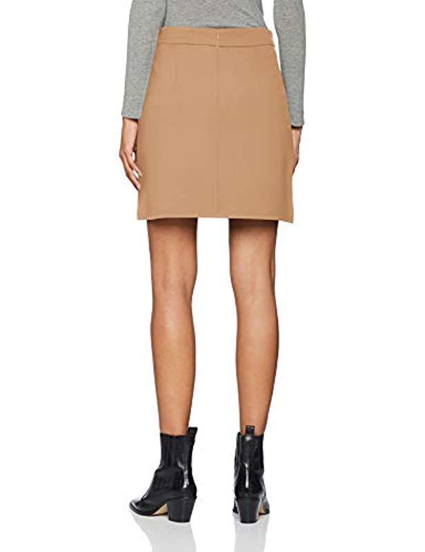 8080b084706 Dorothy Perkins Side Popper Mini Skirt in Natural - Lyst