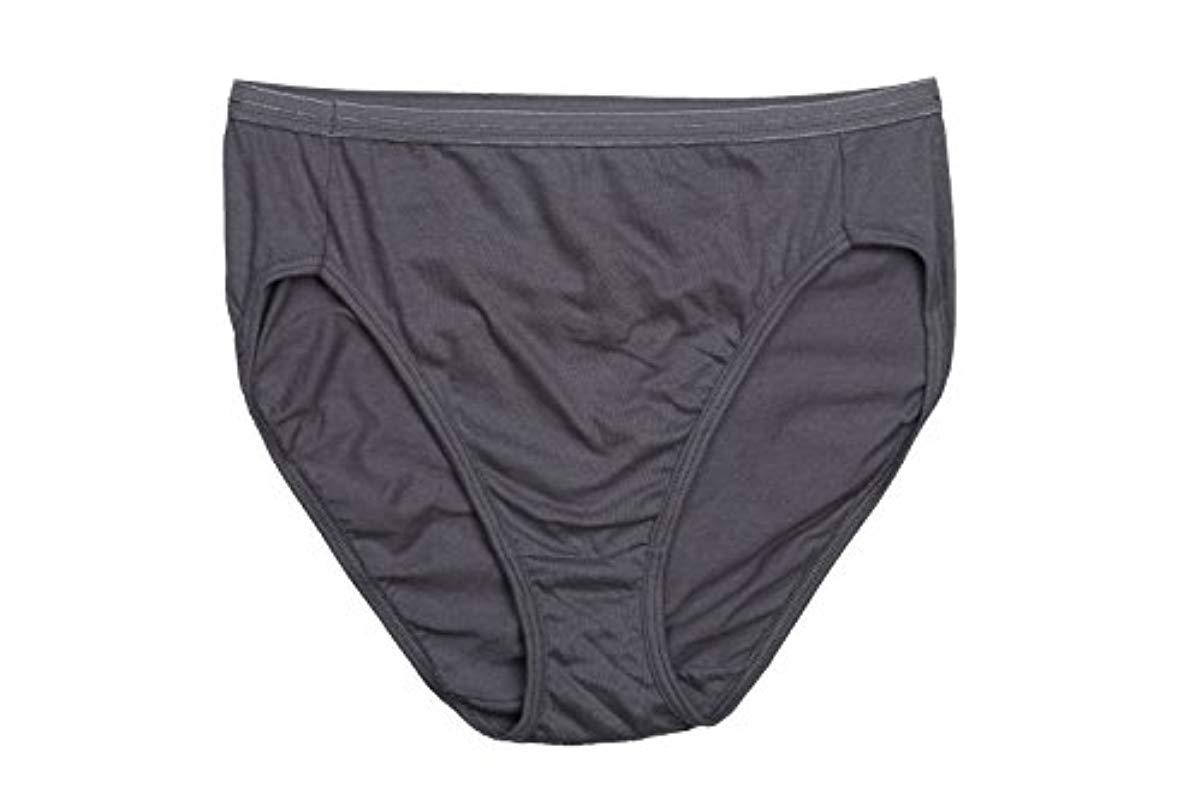 3680ba1849ed Hanes - Blue Cotton Hi Cut Panty Multipack - Lyst. View fullscreen