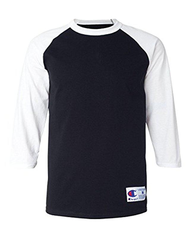 cab33c3f Lyst - Champion Raglan Baseball T-shirt in Black for Men - Save 58%