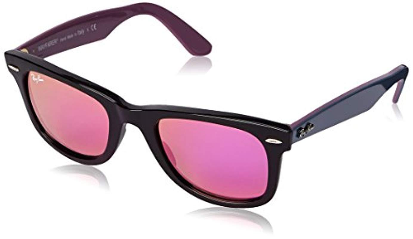 69c17419df Ray-Ban Unisex Rb2140 Original Wayfarer Sunglasses 50mm in Pink - Lyst