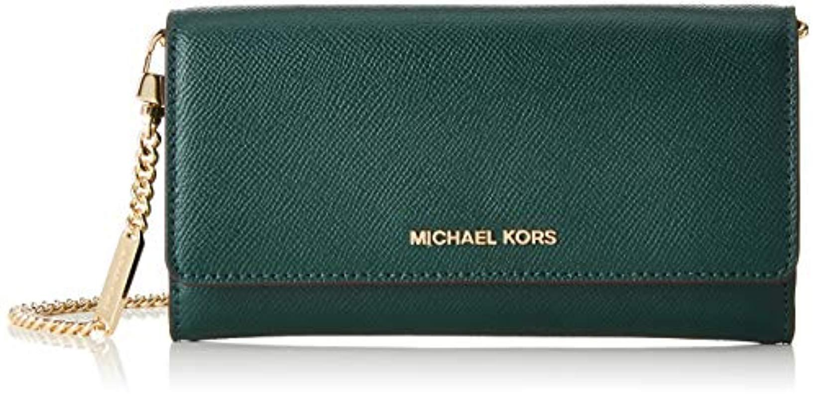 ad1c71303012 Michael Kors - Green Large Two-tone Leather Convertible Chain Wallet, 's  Multicolour. View fullscreen