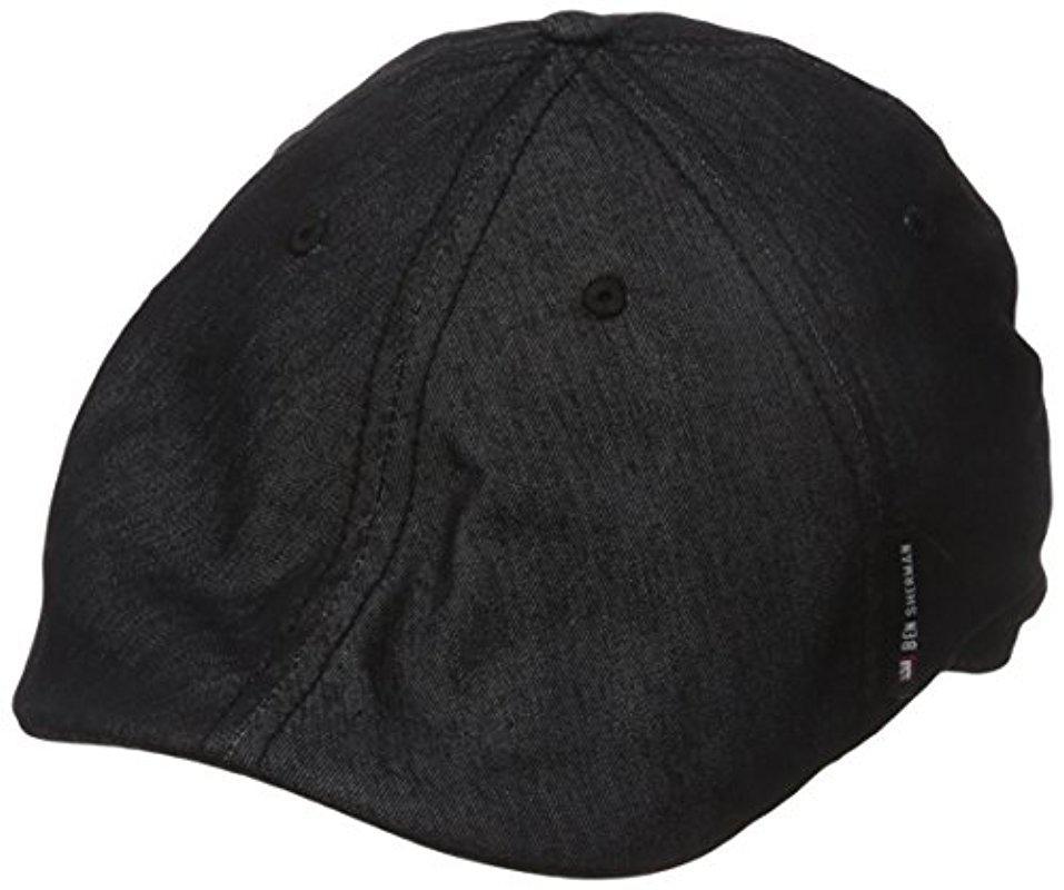 Lyst - Ben Sherman Chambray Driver Hat in Black for Men 302a1b732a8b