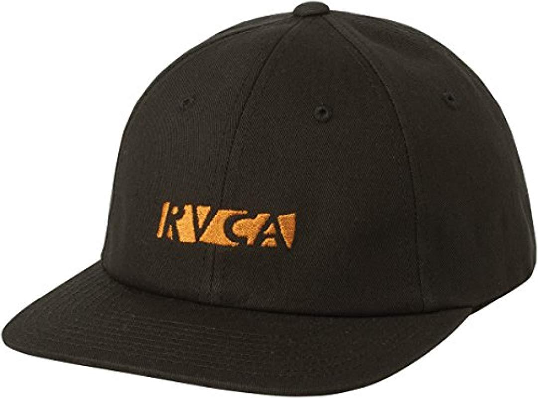 69e917ccd46b9 ... norway lyst rvca newman snapback hat in black for men save 17216 ba0b3