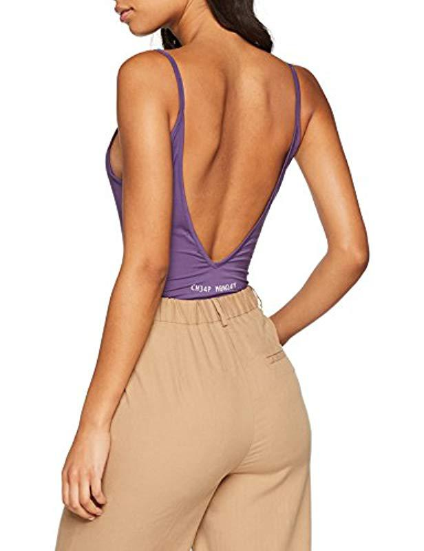 fcaf7fa963 Cheap Monday Inner Bodysuit Hacker Stamp Vest Top in Purple - Save 52% -  Lyst