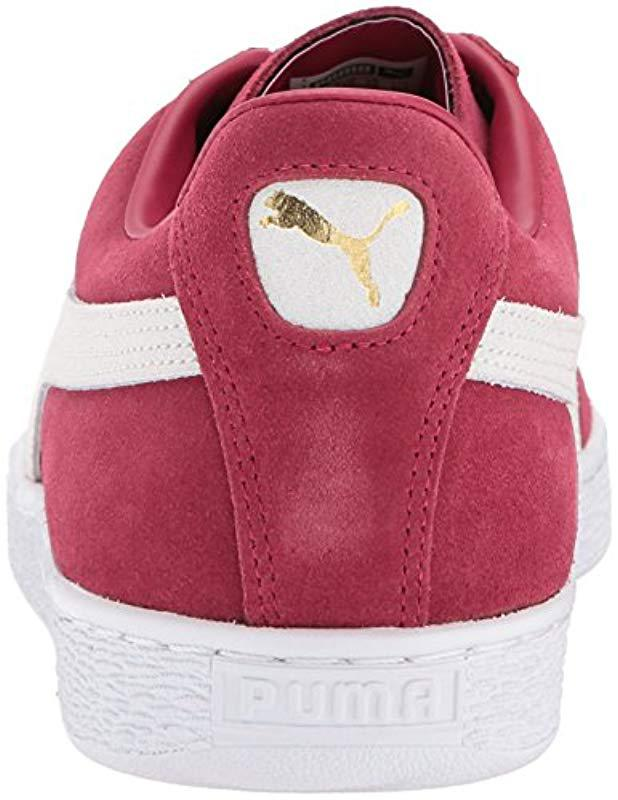 Lyst - PUMA Suede Classic + Fashion Sneaker in Red for Men - Save  50.63291139240506% 355826514