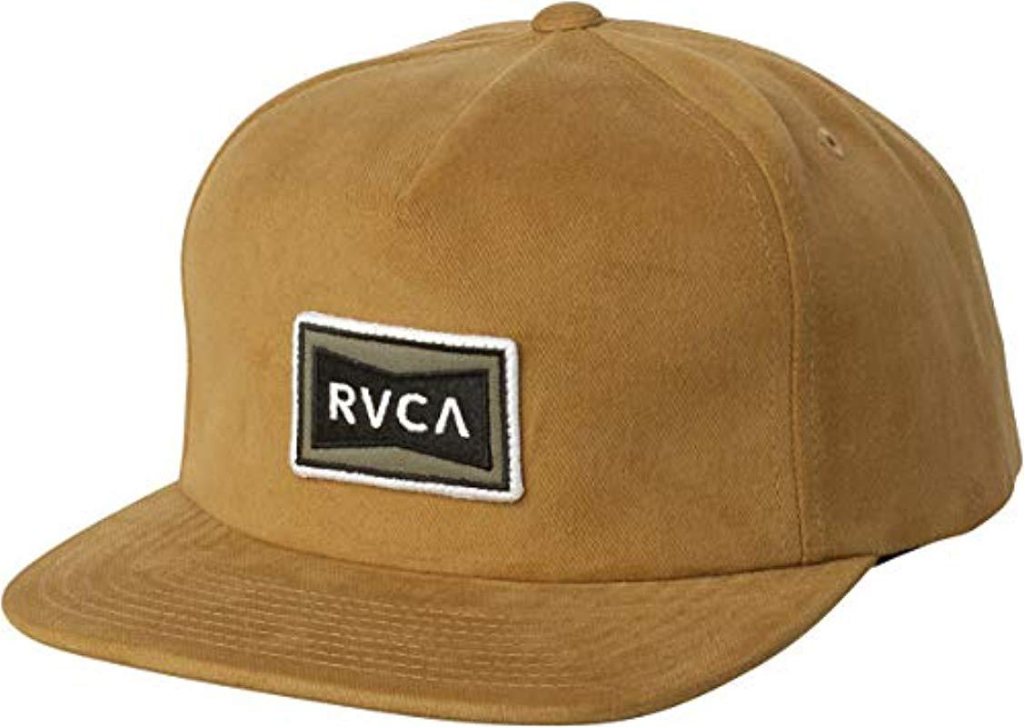 56d26f43d4a Lyst - Rvca Pace Cap