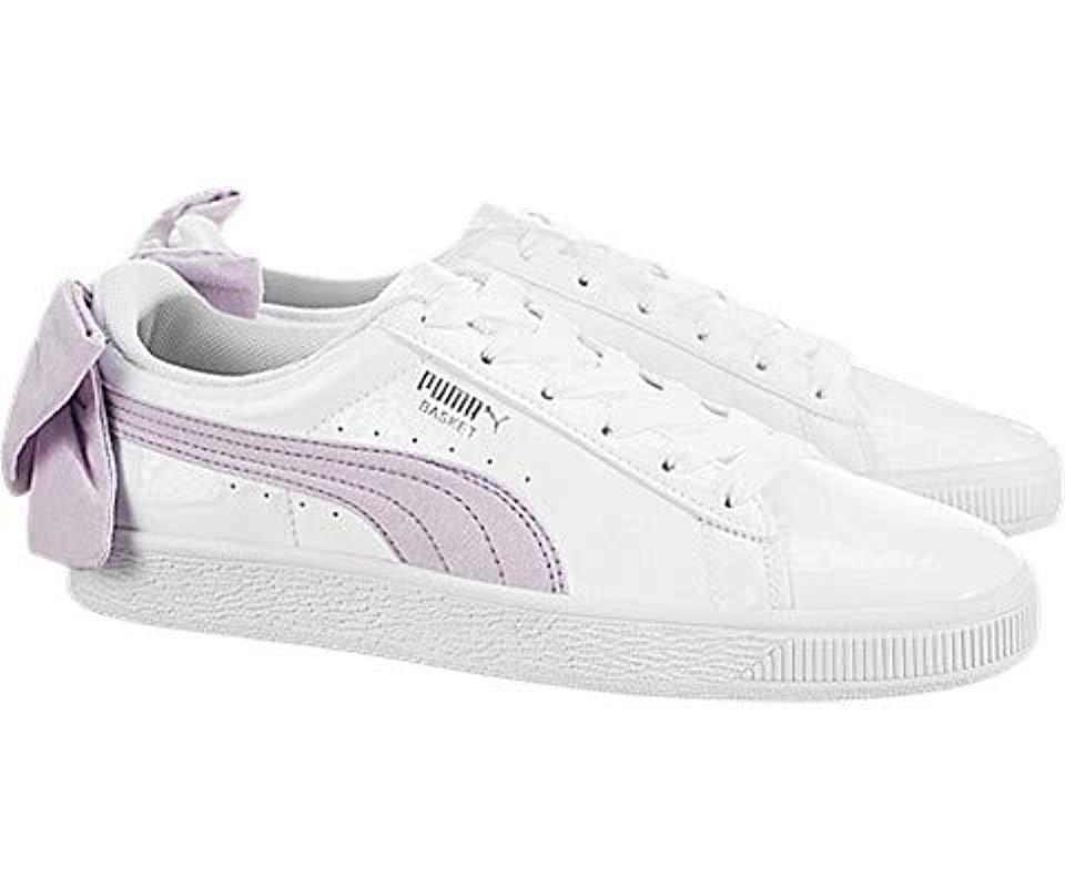PUMA - White Basket Bow Sneaker - Lyst. View fullscreen 737f7023f