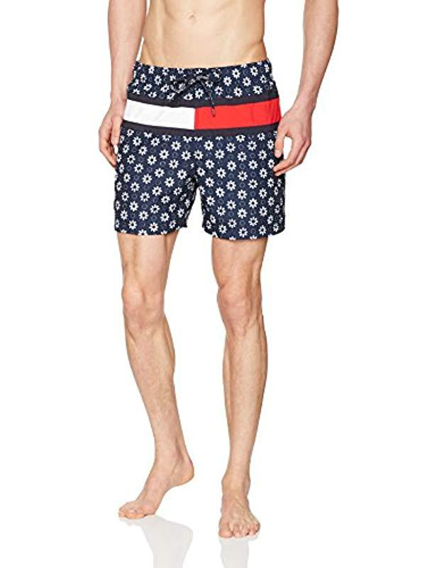 4af570d07e8f65 Tommy Hilfiger Flower Prt Flag Trunk Swim in Blue for Men - Lyst