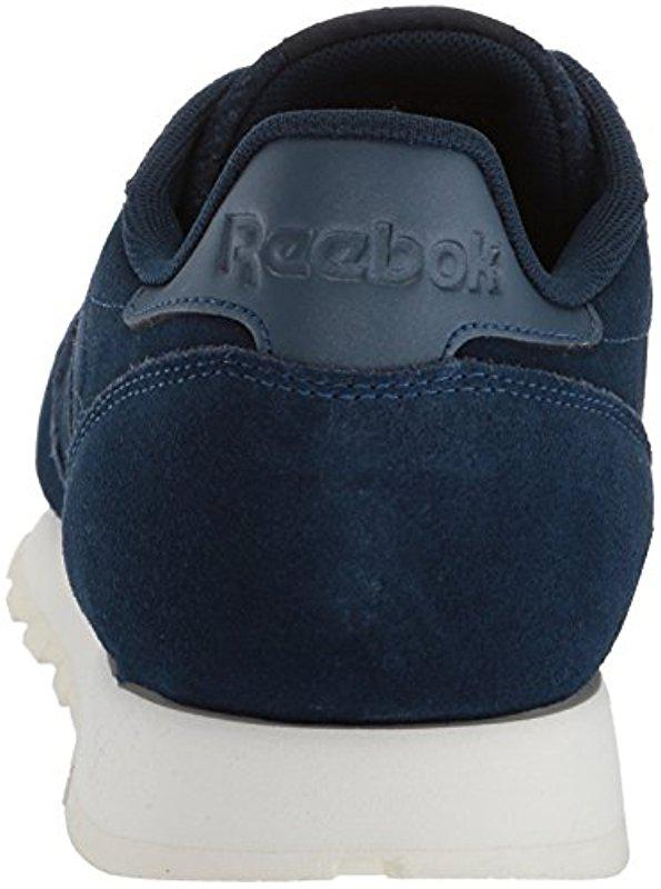 3287e2da55d Reebok - Blue Classic Leather Sneaker for Men - Lyst. View fullscreen