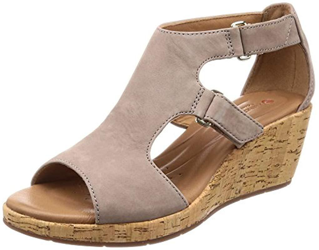 2f5c3f6fd9 Clarks Un Plaza Strap (warm Grey Nubuck) Sandals in Gray - Save 51 ...