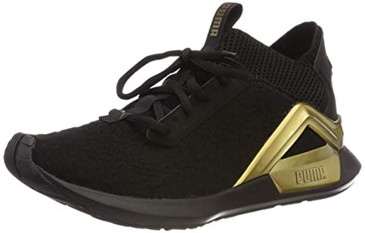 8819e36cbe9d PUMA Rogue Metallic Wn s Competition Running Shoes in Black - Lyst