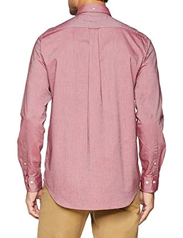 0c050dd9 GANT The Oxford Shirt Reg Bd Regular Fit in Red for Men - Lyst