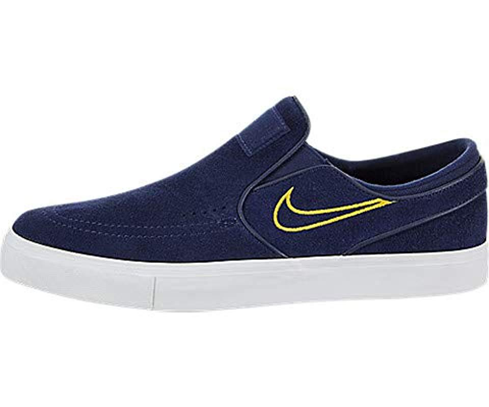 44cabba16c4 Nike Zoom Stefan Janoski Slip Fitness Shoes in Blue for Men - Lyst