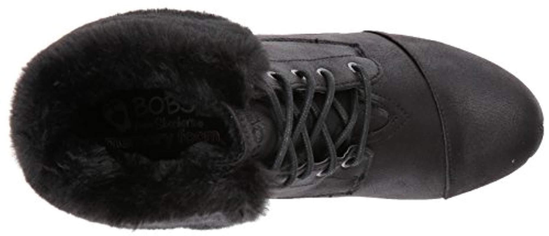 57fb465941ec Skechers - Black Bobs High Peaks-flurry Dust Ankle Boot - Lyst. View  fullscreen