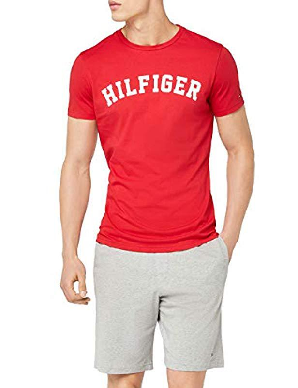 05d6a8bb Tommy Hilfiger Ss Tee Logo T-shirt in Red for Men - Lyst