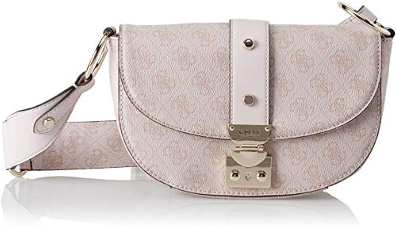 47c2ce0a503b Guess Florence Cross-body Bag in Pink - Lyst