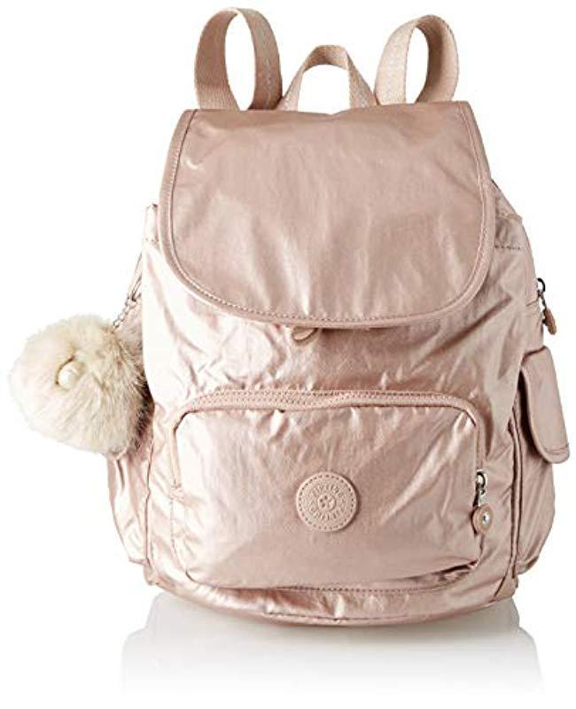 Kipling  s City Pack S Backpack Handbags in Metallic - Save 34% - Lyst a4f79eea04
