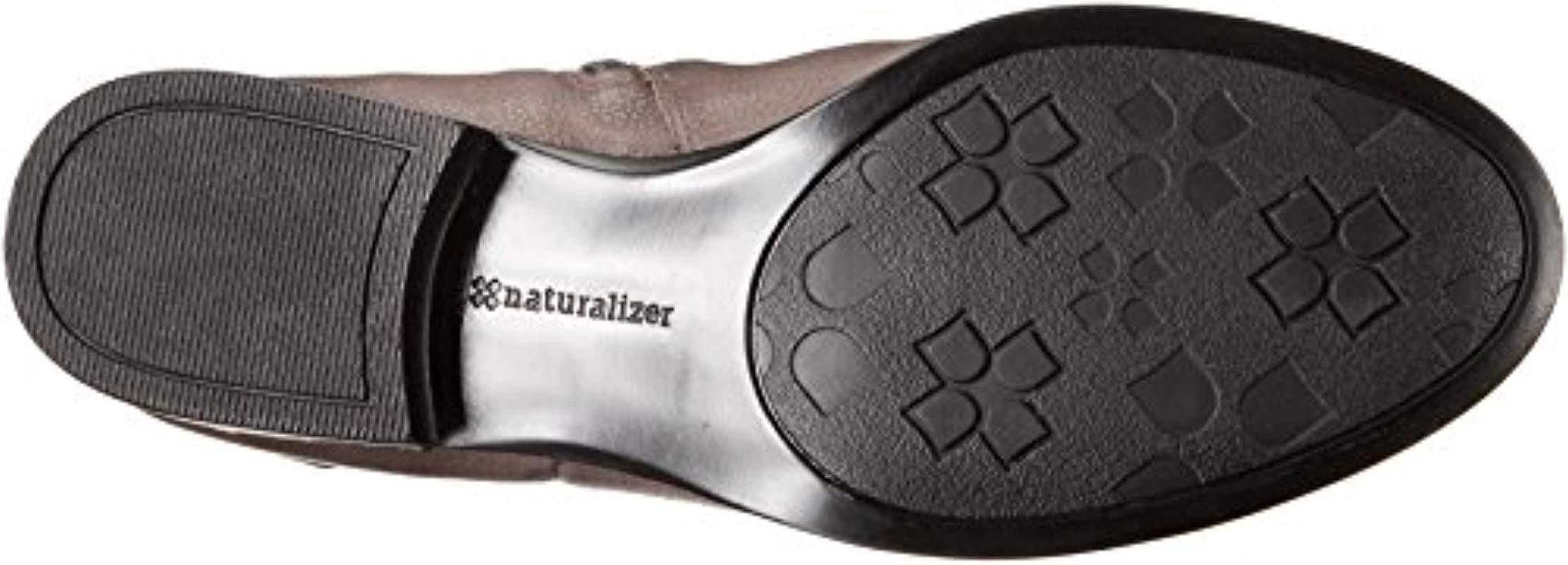 eac06b8caed Naturalizer - Gray Joan Wide Calf Riding Boot - Lyst. View fullscreen